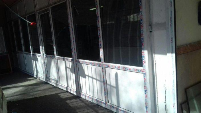 نمونه نصب پنجره UPVC